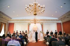 elegant classic wedding ceremony fort worth club