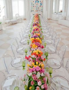 13 Show-Stopping Long Reception Tables for Your Big Day via Brit + Co.