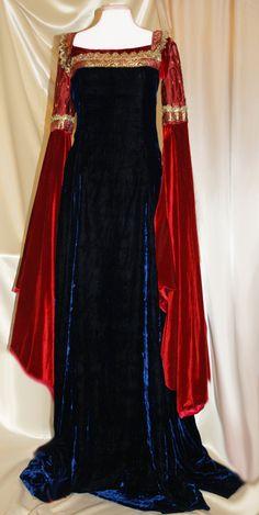 LOTR Arwen Inspired custom medieval gown  Silk Velvet by LiveMyth, $395.00