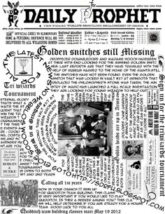 image about Harry Potter Daily Prophet Printable identified as 172 Least difficult Harry Potter - newspaper and so on prints shots within just 2017