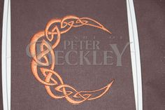 """Celtic Knot Crescent Moon Machine Embroidery Pattern by PeterBeckleyStudio, $2.00 This is the 4"""" x 4"""" version. I also created a larger 5"""" x 5"""" one too!"""