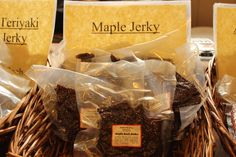 #MyPikePlace #HolidaysHandled   Local Maple Jerky from Stewart's Meats on the farm tables