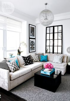 Black and white home decor on the blog