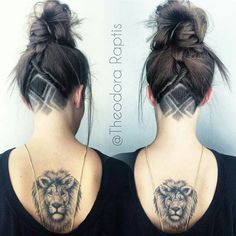 89 Undercut Women That Inspire You For A Unique Look Undercut Hair Designs, Undercut Women, Undercut Hairstyles, Pretty Hairstyles, Female Undercut, Viking Hairstyles, Undercut Styles, Updo Hairstyle, Wedding Hairstyles