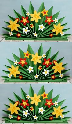 Flower arch - Happy colorful flowers for spring - Preschool Art Activities, Kindergarten Art Projects, Spring Activities, Easter Art, Easter Crafts, Spring Crafts For Kids, Diy For Kids, Diy Crafts Hacks, Diy And Crafts