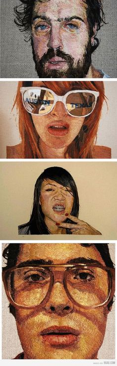 embroidered portraits. incredible by Daniel Kornrumpf