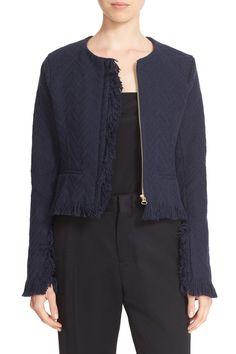 Fringe Trim Cotton Jacket