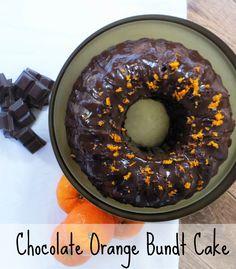 Chocolate Orange Bundt Cake Recipe. Super easy and a lovely festive bake!