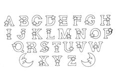 Alphabet to print & color, From the gallery : Kids Alphabet #coloringpages #alphabet