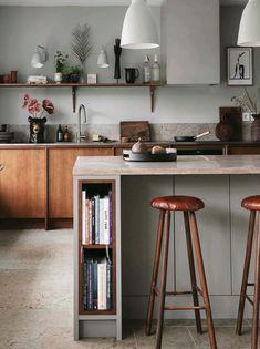 Plaza Interiör: - Tillbaka till naturen Kitchen Room Design, Kitchen Interior, New Kitchen, Kitchen Dining, Kitchen Decor, Minimal Kitchen Design, Minimalist Kitchen, Cuisines Design, Küchen Design