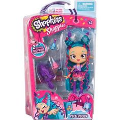 Shoppies Dolls - Polli Polish, Discover the fun of Shopville where the Shoppies and their Shopkins friends love to hang out!, By Shopkins Shopkins Playsets, Shopkins Game, Shoppies Dolls, Shopkins And Shoppies, Toys For Girls, Kids Toys, Lol Dolls, Birthday Wishlist, Dorms Decor