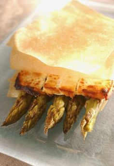 Receita de aspargos assados com queijo feta e massa folhada - Massa folhada: receitas com massa folhada