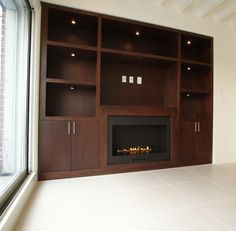 built in ventless fire place