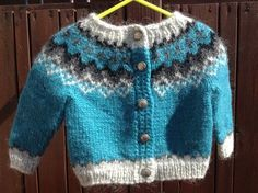 Made to order Icelandic sweater baby cardigan sweater handknit unisex Icelandic wool lopapeysa infant lopi months Baby Cardigan, Baby Pullover, Sweater Cardigan, Icelandic Sweaters, Warm Sweaters, Baby Knitting Patterns, Hand Knitting, Sweater Making, Handmade Shop