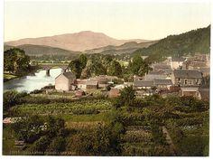 Perthshire, Callander Bridge and Ben Ledi