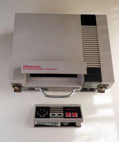 NES brief case and wallet.