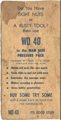 Who knew WD40 was so useful!