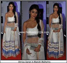 Shriya Saran Manish Malhotra Midnights Children Premiere