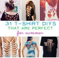 31 Amazing T-Shirt DIYs For Summer
