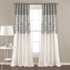 Lush Decor Estate Garden Room Darkening Window Curtain Panel Pair, x Blue - Works as designed and well built.Product features of Lush Decor Estate Gard Printed Curtains, Grey Curtains, Rod Pocket Curtains, Room Darkening Curtains, Blackout Curtains, Window Curtains, Bedroom Curtains, Rideaux Design, Decoration Home