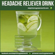 Headache relief  2 Glasses of water usually help.