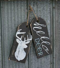 "Wooden ""hello deer"" front door welcome sign. Christmas Wood, Christmas Signs, Christmas Crafts, Front Door Signs, Wooden Front Doors, Painted Signs, Wooden Signs, Hand Painted, Fall Crafts"