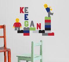Brickman (LEGO) Monogram Name Vinyl Wall Decal $32.00