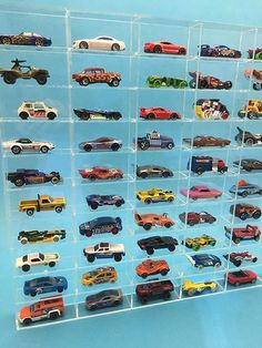 Hot Wheels Storage, Hot Wheels Display, Car Storage, Toy Display, Display Case, Vitrine Lego, Plexiglass Sheets, Dollar Tree Organization, Homework Station