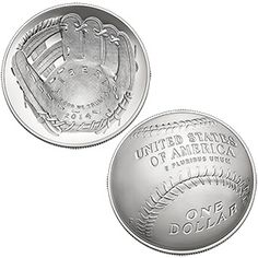 2014-P BASEBALL HALL OF FAME SILVER UNC DOLLAR COMMEMORATIVE PACKAGING B34