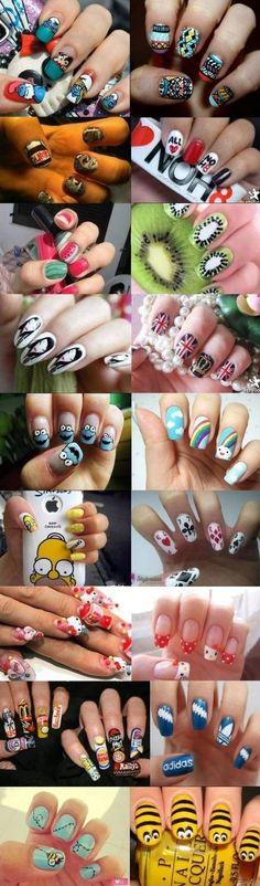 Those are all so cute #lovenails