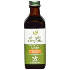 Simply Organic, Madagascar-Vanille, alkoholfreie Aromen, eigener Anbau, 4 fl oz (118 ml)