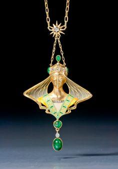 Rosamaria G Frangini | High Antique Jewellery | An Art Nouveau Pendant owned by Elizabeth Taylor, Paris, circa 1900.