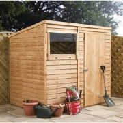 Winchester 8ft x 6ft (2.37m x 1.79m) Overlap Pent Shed