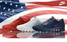 NIKE AIR MAX 90 HYPERFUSE USA Independence Day CHEAP FOR SALE  £ 48.00  http://www.nikeblazersofficial.com/42-nike-air-max-90-hyperfuse