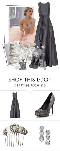 """""""Pink and Pewter Wedding"""" by ahapplet ❤ liked on Polyvore featuring Raoul, Harry Kotlar, Bond No. 9, Silver, pewter and ahapplet"""