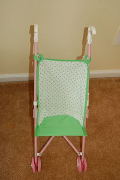 Green Glow Doll Stroller Seat on Etsy, $9.99