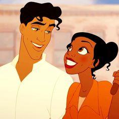 Tiana and Prince Naveen gif Disney Pixar, Disney Men, Disney And Dreamworks, Disney Animation, Disney Magic, Tiana And Naveen, Disney Princess Tiana, Tangled Princess, Cartoon Memes