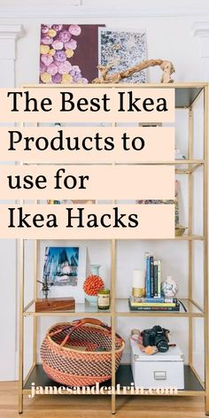 There are so many Ikea hacks out there, but sometimes they seem like too much work or too expensive to buy the Ikea products in the first place. What are the best Ikea products to use for Ikea hacks? Here we highlight some of the best. Hacks Diy, Home Hacks, Ikea Hacks, Ikea Furniture Hacks, Cheap Furniture, Ikea Products, Best Ikea, Ikea Home, Rental Decorating