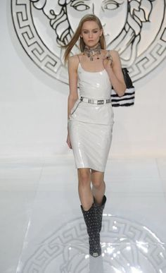 #Versace autumn/winter 2013 #Milan Fashion Week #Trend Leather