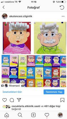 School Art Projects, Art School, Creative Crafts, Diy And Crafts, Grandparents Day Crafts, Art Lessons Elementary, Crafty Kids, Teaching Kindergarten, Preschool Activities