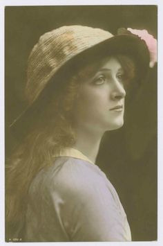 Gladys Cooper, hand coloured real photograph postcard, RPPC (Rotary Photo No…