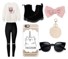 """Untitled #4"" by sara-carvalho-i ❤ liked on Polyvore featuring Decree, Casetify, Chicnova Fashion and Dr. Martens"