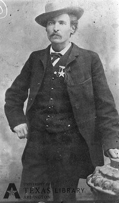 """Timothy Isaiah Courtright, aka """"Longhair Jim"""" or """"Big Jim"""" Courtright (1848 -1887), lawman, outlaw & gunfighter...In 1876, he became the first elected marshal of Fort Worth, TX and had to keep peace in the notorious Hells Half Acre section, the town's wild red-light district. At that time, Fort Worth was a very dangerous place, with altercations between unruly drunks and lawmen being commonplace."""