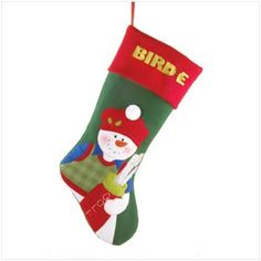 "$10.54-$9.95 You'll hit a hole-in-one with your favorite avid golfer when presenting him this whimsical stocking stuffed with those must-have items to improve his game! Plush. 7 1/2"" x 16"" high."