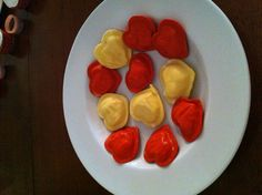 Heart shaped ravioli