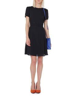 Lace yoke occasion dress