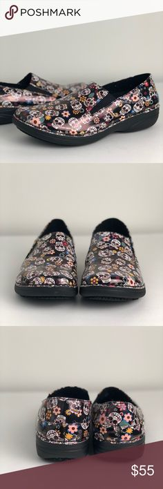 Day of the Dead Clogs Day of the Dead, Dia de Los Muertos slip ons are very cute and comfortable.nwob. 10m. 0010t. Shoes Mules & Clogs