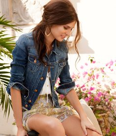 cute shorts to wear with a jean jacket
