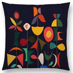 Whimsical geometric nature inspired by Paul Klee. Mid Century Modern Art, Mid Century Art, Kunstjournal Inspiration, Motifs Textiles, Colorful Mountains, Stoff Design, Henri Matisse, Canvas Prints, Art Prints