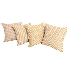 "18"" Square Set of 4 Country Geometric Cotton/Linen Decorative Pillow Cover – AUD $ 59.02"